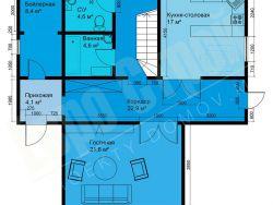 Двухэтажный жилой дом 11x10