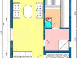 Каркасная двухэтажная баня 78 м2
