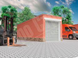 Каркасный гараж  24,5 м2