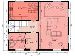 Двухэтажный жилой дом 188 м2 10х8