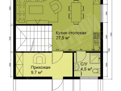 Двухэтажный жилой дом 104 м2 7*7