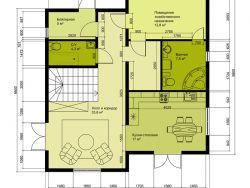 Каркасный двухэтажный жилой дом 200 м2