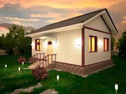 Проект одноэтажного жилого дома 6х9