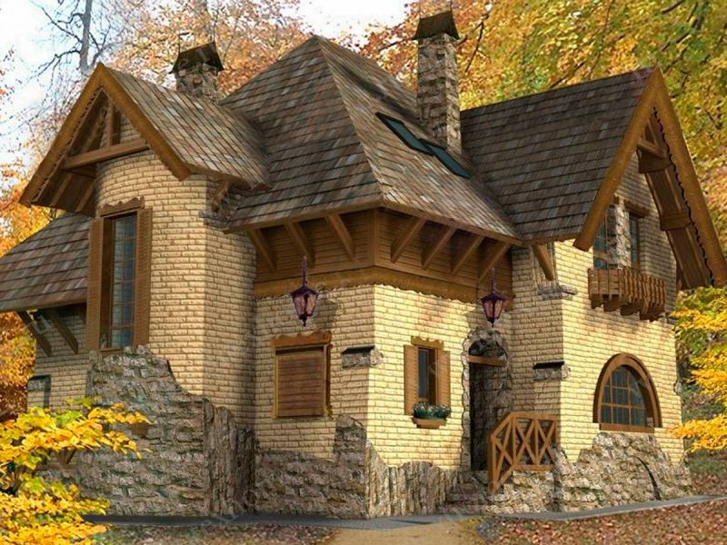 Красивые дома облицовка фото