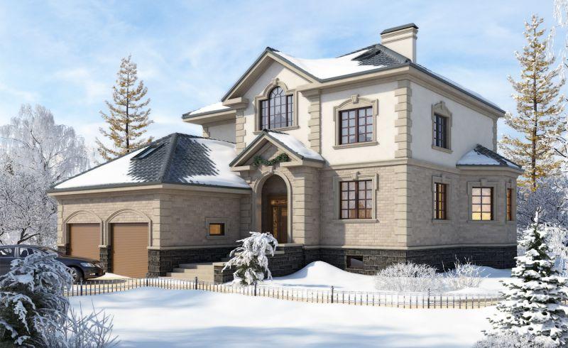 Хочешь иметь такой дом с гаражом, как на фото, обращайся к нам!