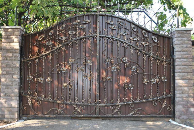 Ворота для дома фото