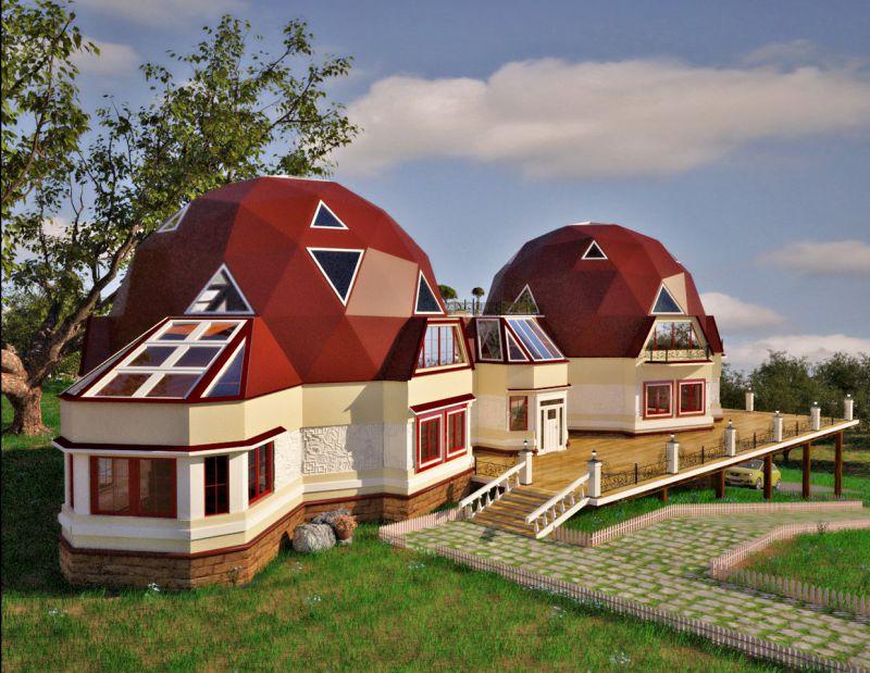 Фото каталог купольных домов с проектами строительства