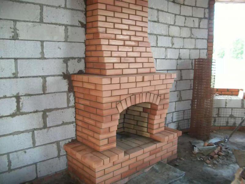 Камины для дачи дровяные из кирпича проекты