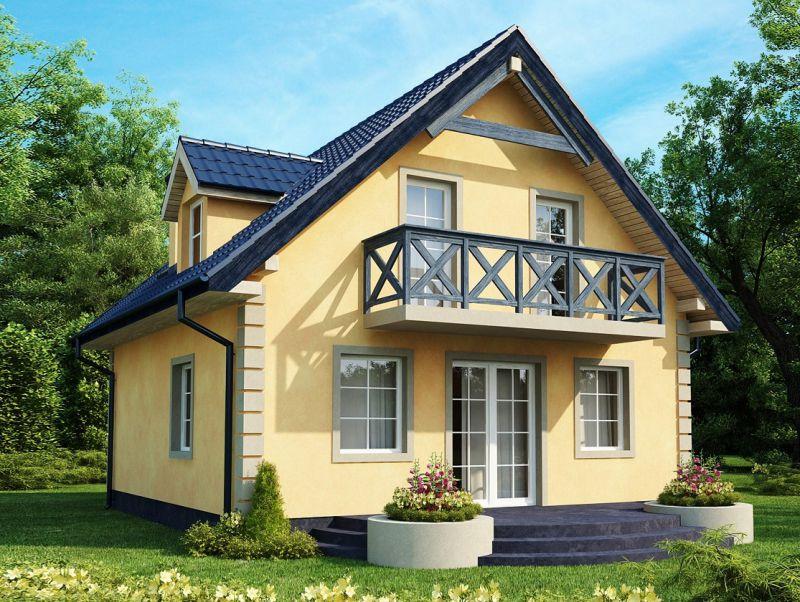 Фото домов с мансардой