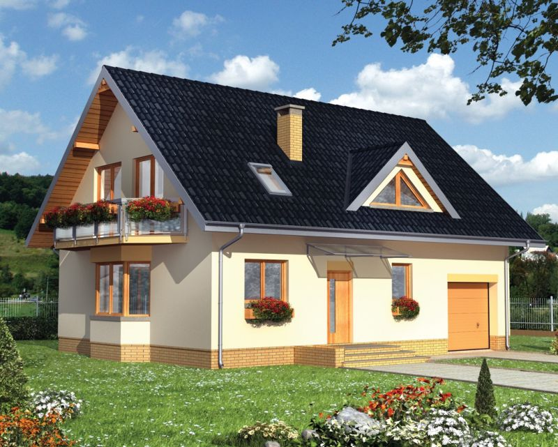 Фото чертеж мансардного дома