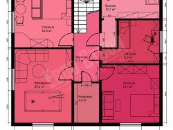Двухэтажный жилой дом 209 м2 10х9