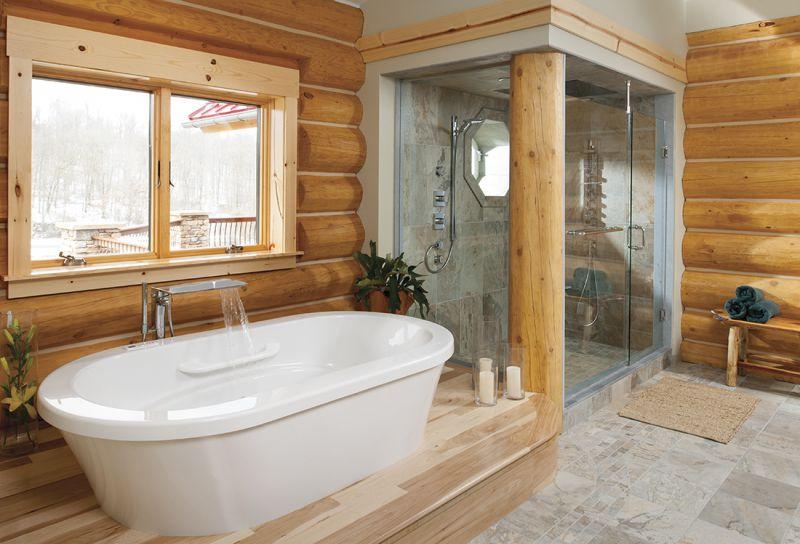 Подборка фото ванной комнаты в деревянном доме