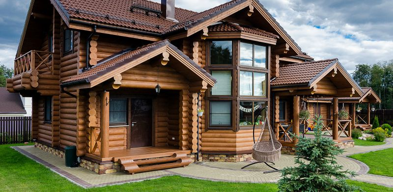 Наши лучшие фото дома из оцилиндрованного бревна!