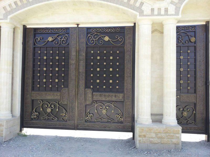 фото самые красивые ворота для дома чечни ней, устанавливаются