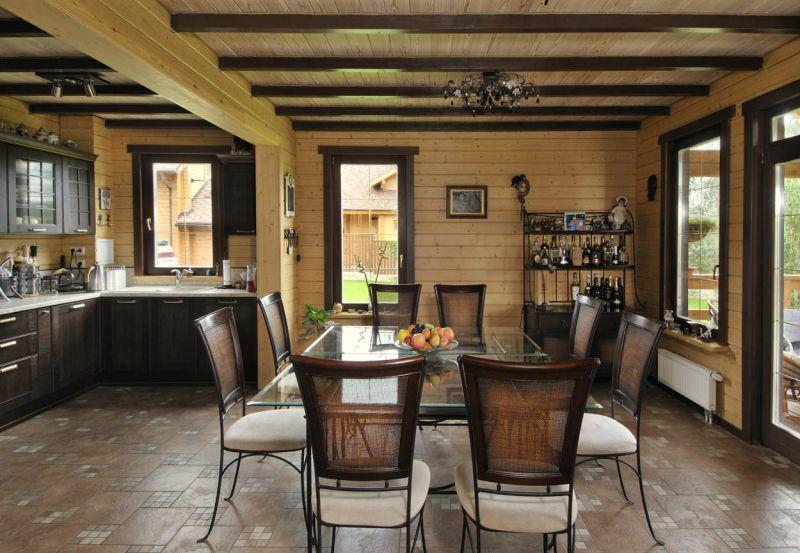 Фото оригинальных идей для внутренней отделки деревянного дома