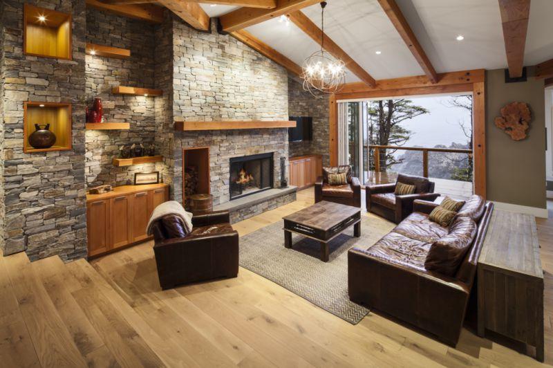 Фото интерьера деревянного дома внутри