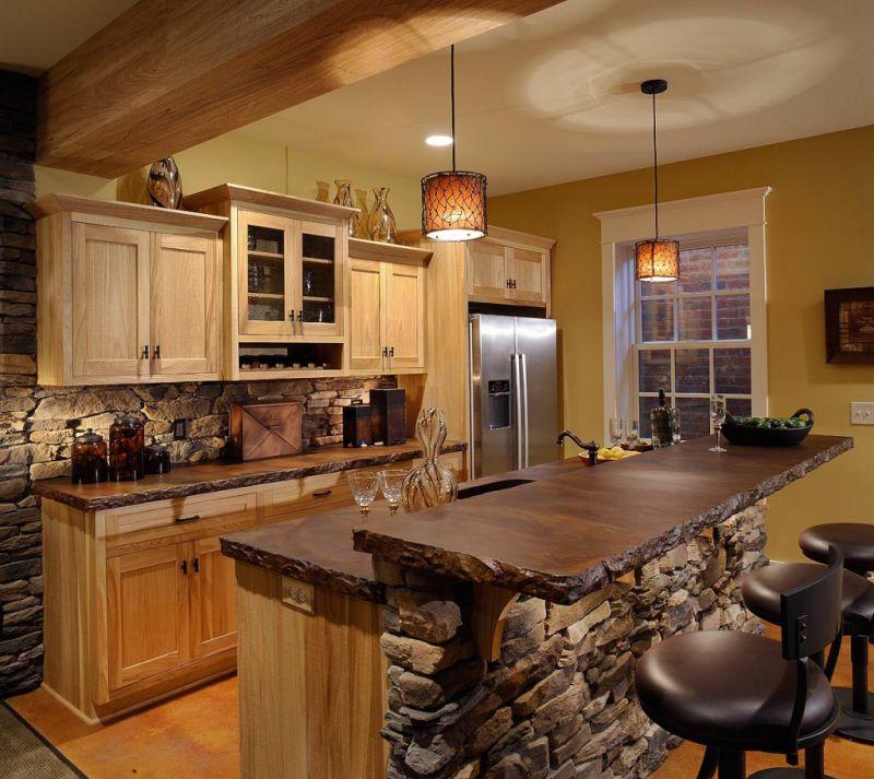 Фото каталог с дизайном кухни в частном доме