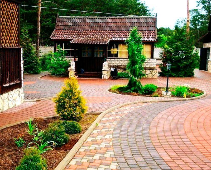 Фото каталог двора частного дома: идеи для обустройства